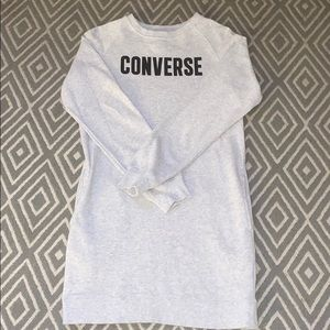 Converse Long Sweatshirt Dress